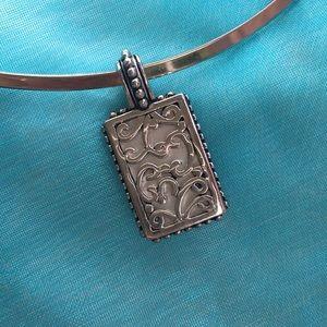 Jewelry - Reversible Silver Pendant